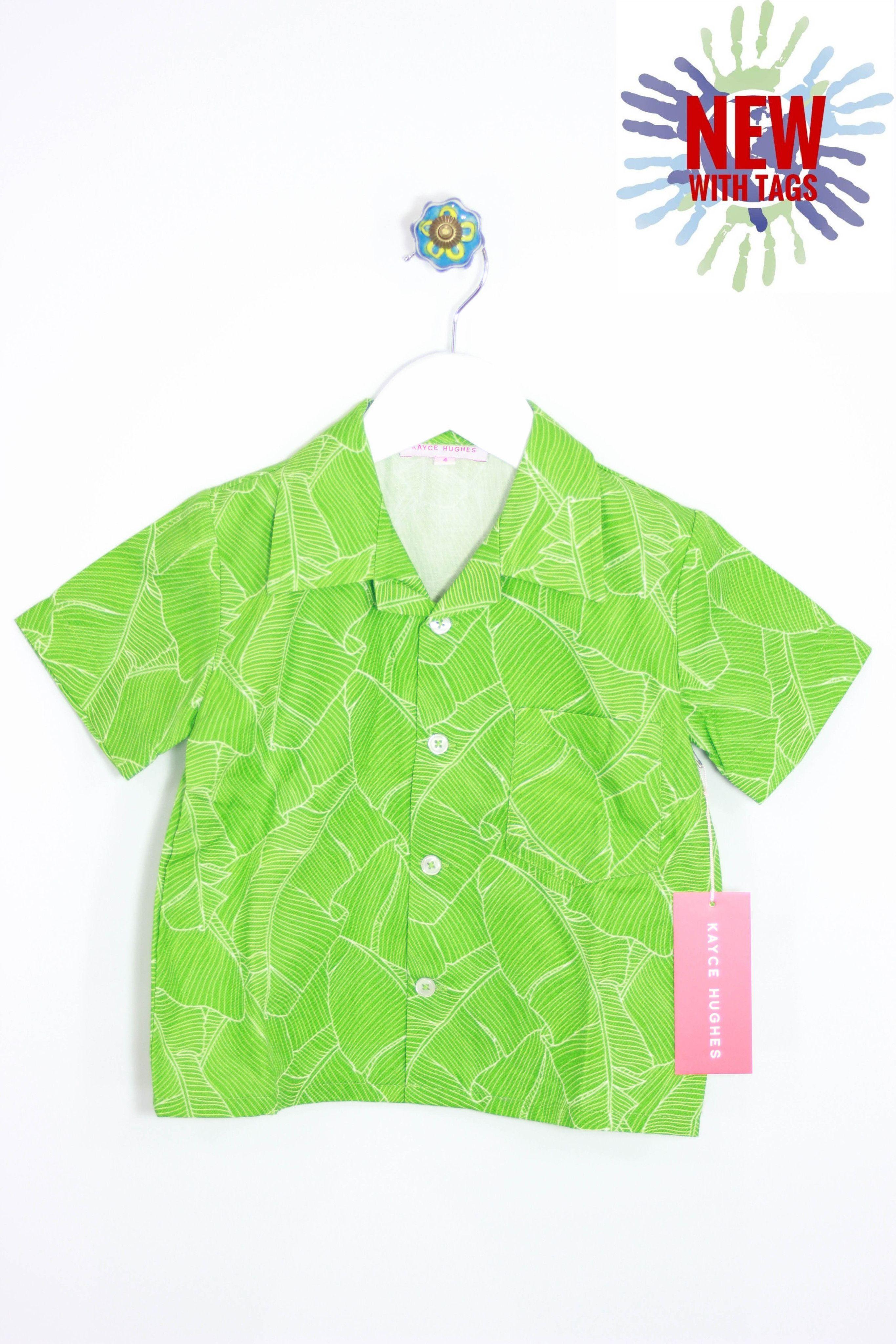 Kayce Hughes Size 5 Tropical Camp Shirt