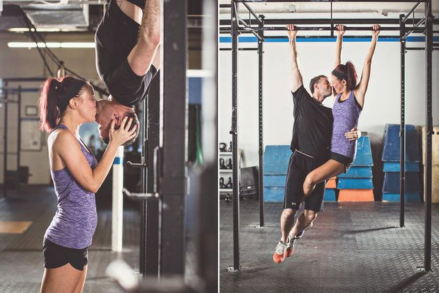17 Athletic Engagement Photo Ideas For You And Your Swolemate Huffington Post Fitness Engagement Photos Crossfit Wedding Crossfit Couple