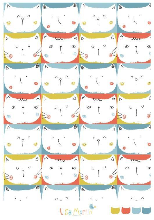gatos, gatos, gatos.... ilustración de Lisa Martin