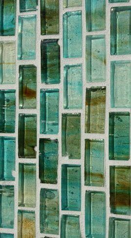 bathroom tile backsplash aqua glass