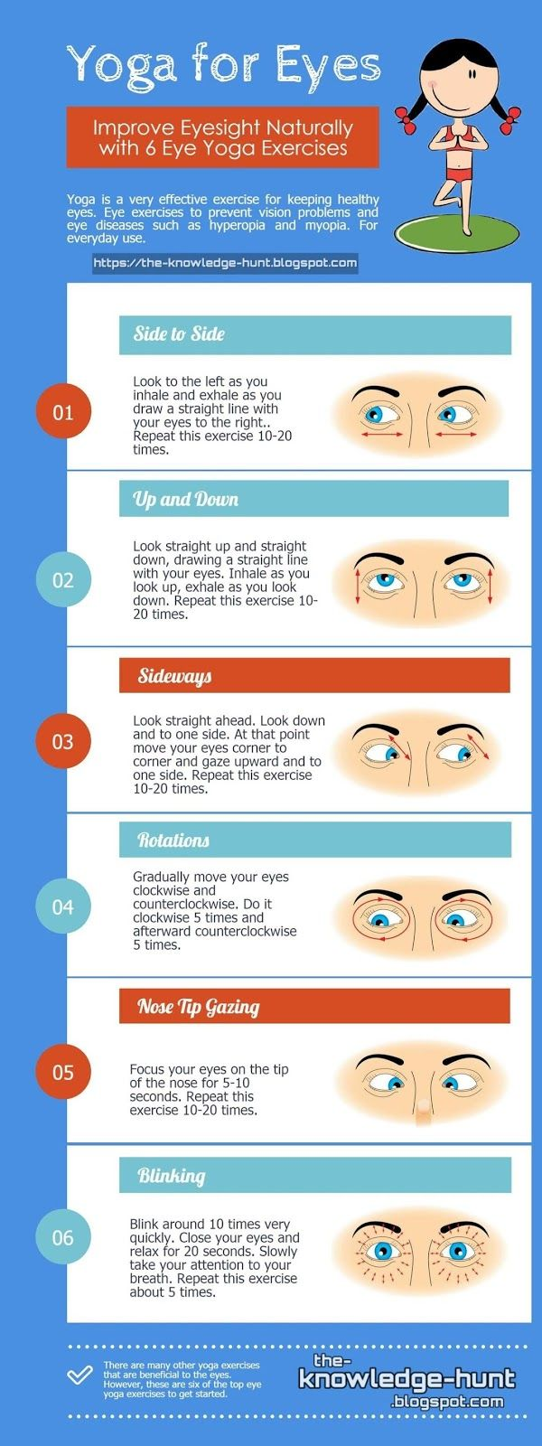 Infos : Eye Health Remedies and How to improve your Eyesight Naturally Without Glasses Yoga for eyes, eyes health, improve eyesight naturally