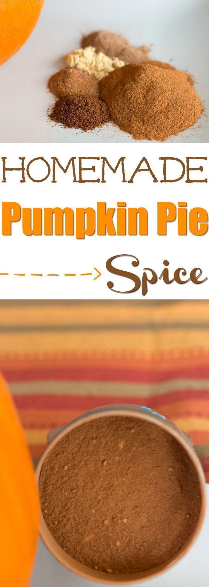 Homemade Pumpkin Pie Spice Recipe Homemade pumpkin pie