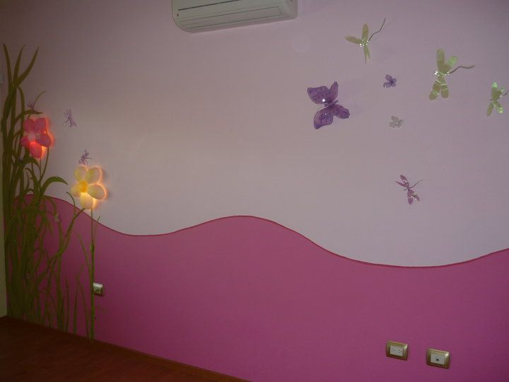 Mural con aplicaciones para habitaci n de ni a a dise o for Mural habitacion juvenil