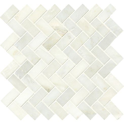 With the greecian herringbone polished glass stone mosaic tile in white it   easy to also inch frosted lunar green reset offset layout