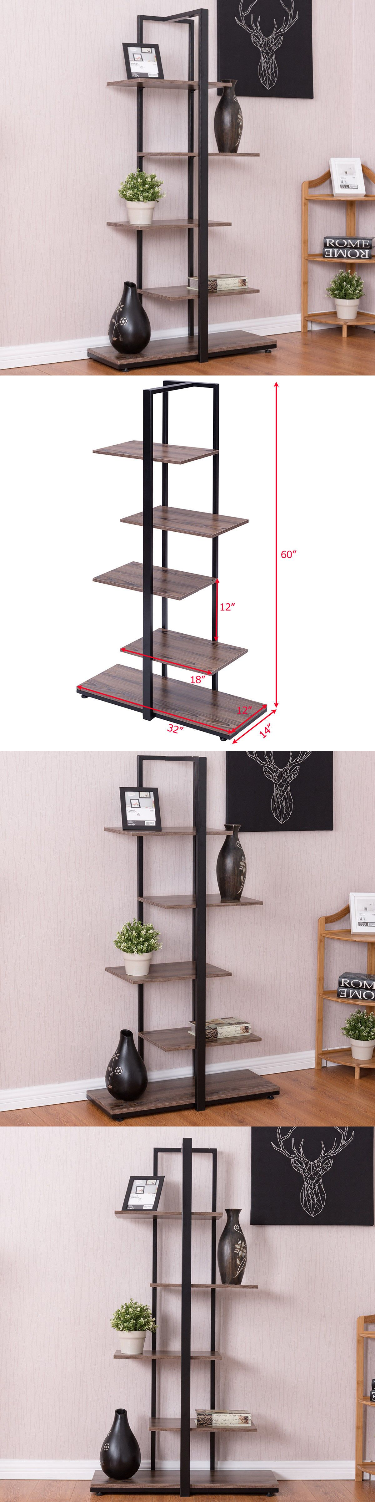 Bookcases 3199 Bookcase 60 Modern Open Concept Display Etagere Shelf Bookshelf Tower BUY IT NOW ONLY 5999 On EBay