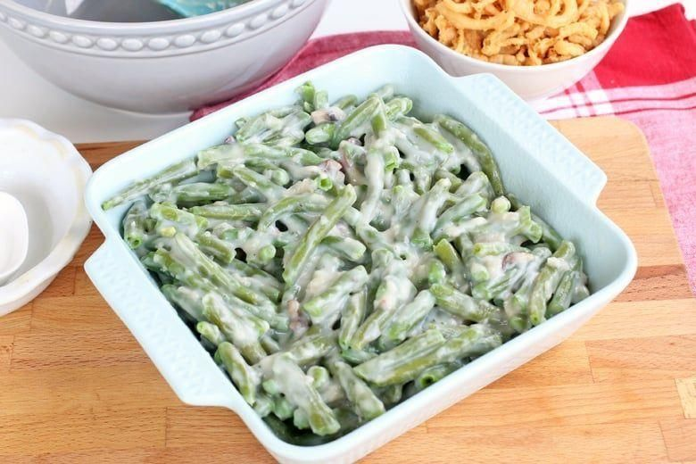Green Bean Casserole Recipe - A classic green bean casserole doesn't get much be... - cartoon - Green Bean #howtofryonions
