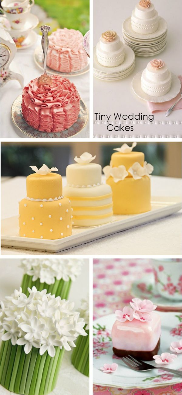 Tiny Wedding Cakes - Wedding Ideas By You | GOOD NIGHT | Pinterest ...