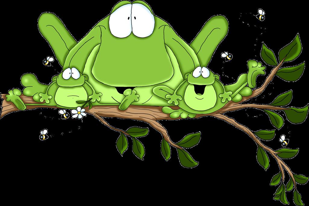 Рисунки смешные лягушата