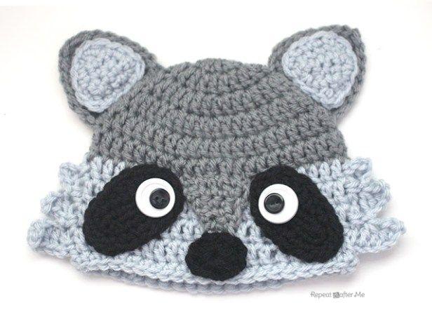Crochet Raccoon Hat Raccoons Crochet And Tutorials