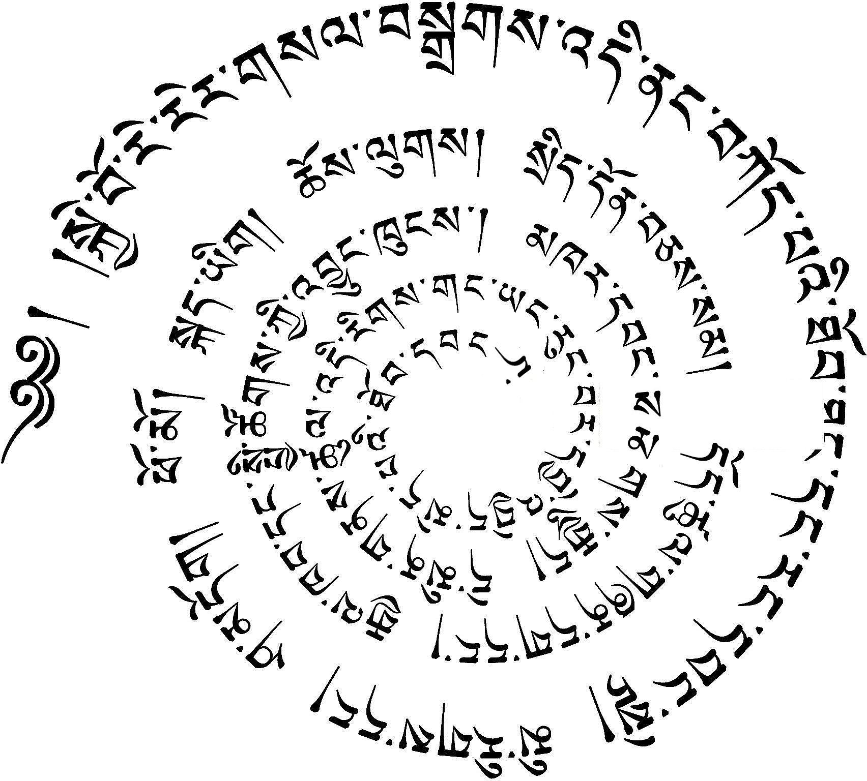 Tibetan Beautiful Writing Or The Most Beautiful Writing