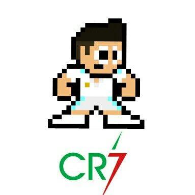 Cristiano Ronaldo Pixel Art