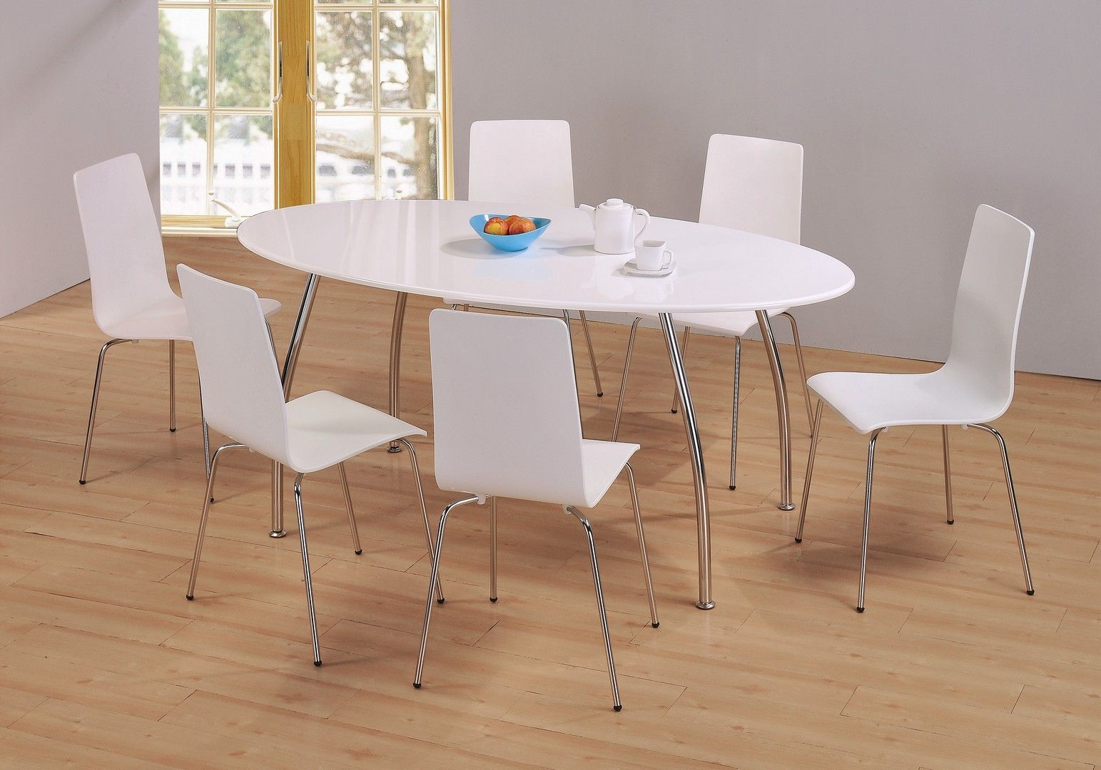 Heartlands Furniture Fiji White High Gloss Oval Dining Table With 6 Chair Part 42