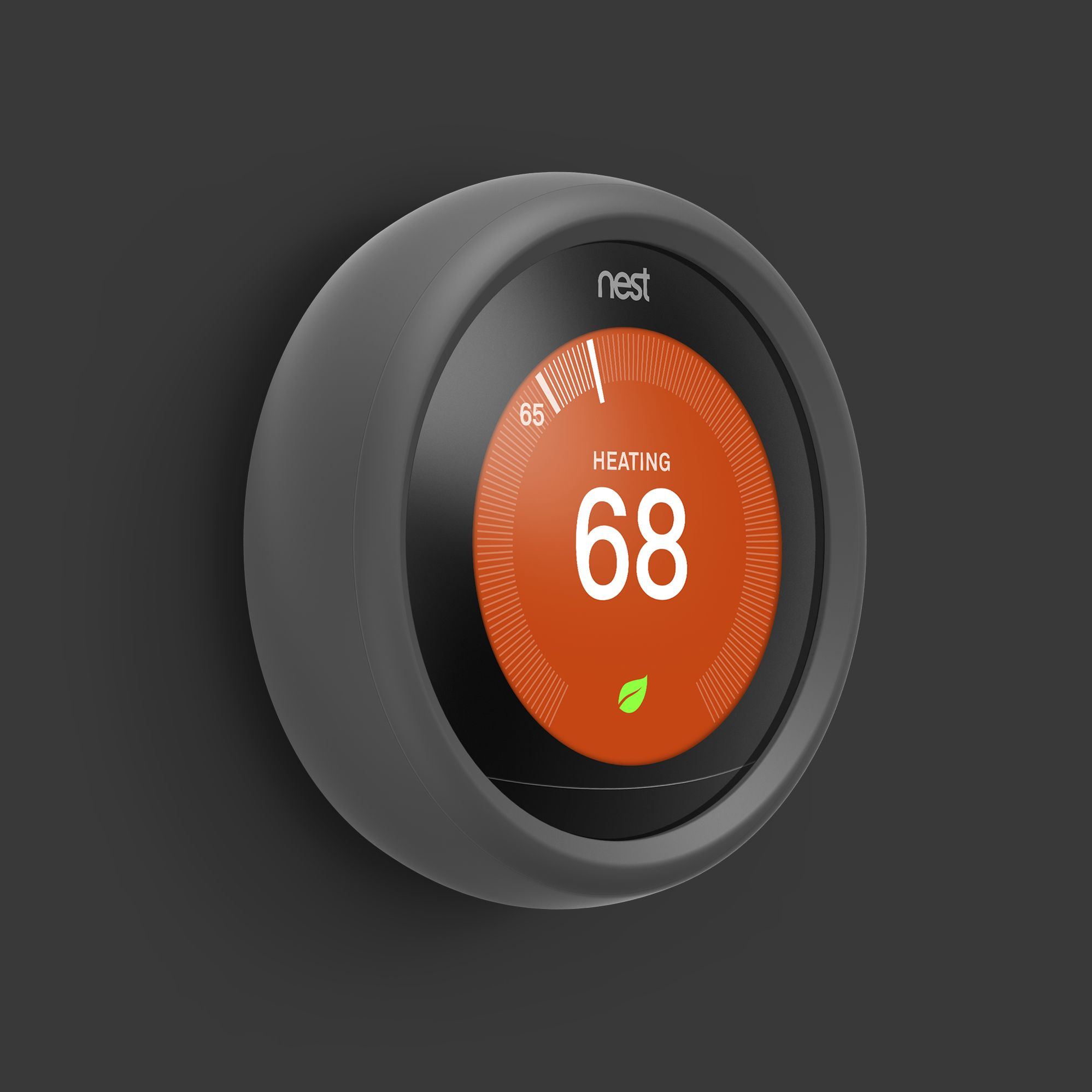 elago Controller Grip for Nest Learning Thermostat Dark
