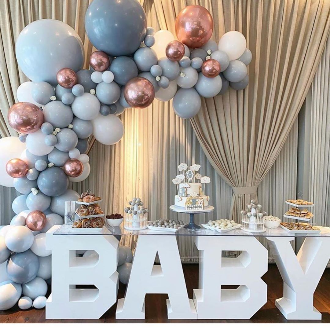 Details about  /Baby Shower Decorations Balloon Baby Gender Reveal Ballons foil party decoration