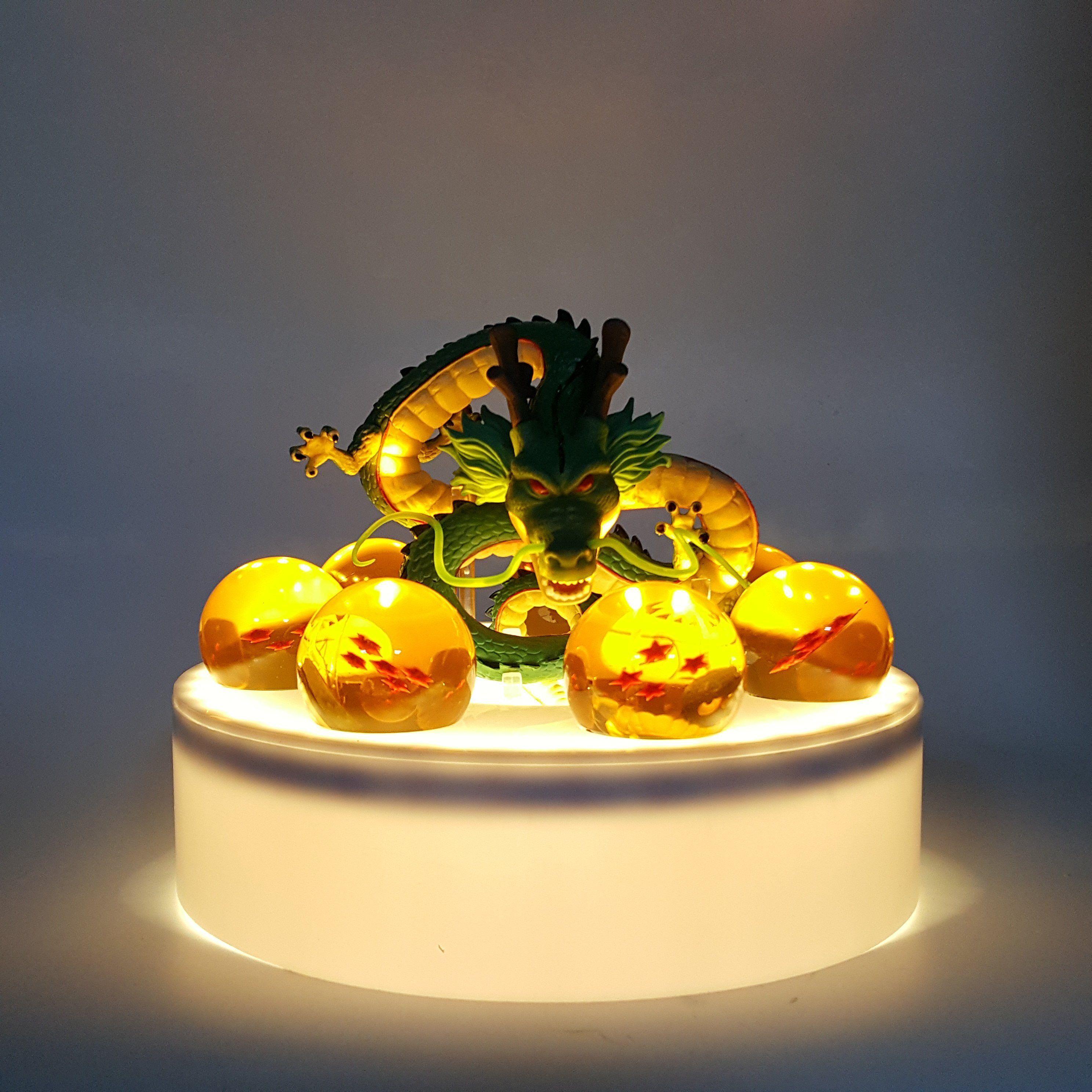 New RARE Dragon Ball Z Super Saiya GOKU Crystal Balls Set of 7pcs Led Light Lamp
