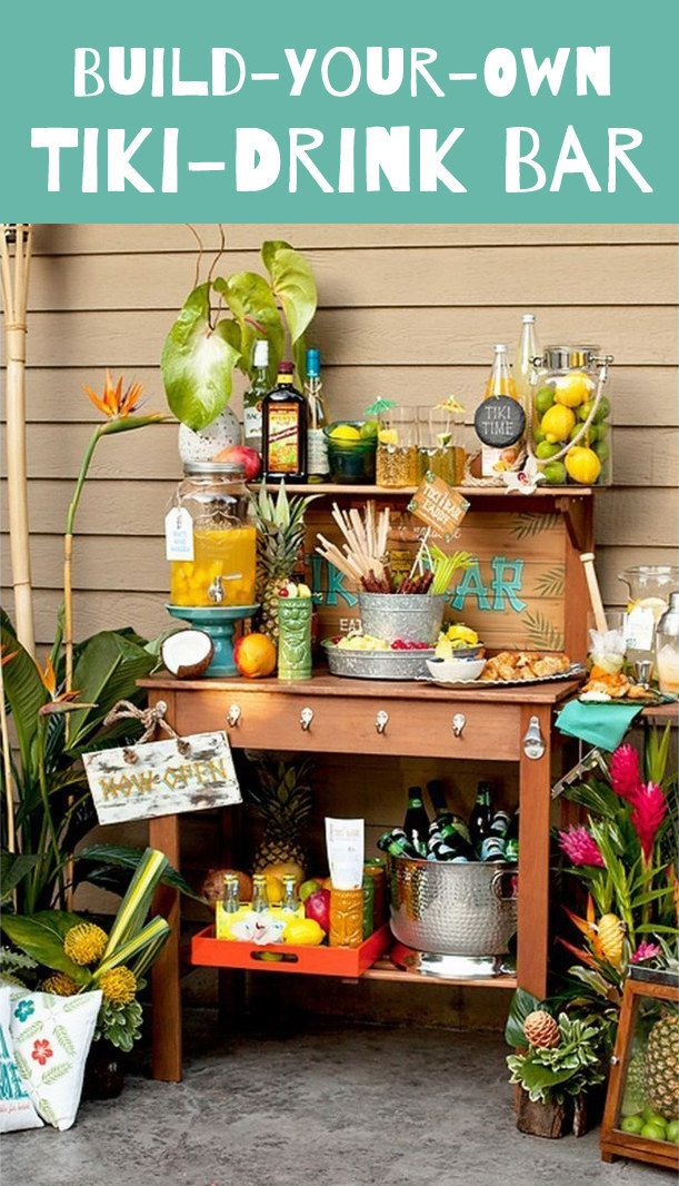 9 ways to set up a diy drink bar and blow your friends for Build your own bar