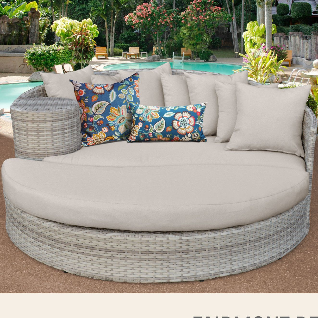 Fairmont daybed with cushions patio daybed cushion fabric outdoor furniture outdoor sofas