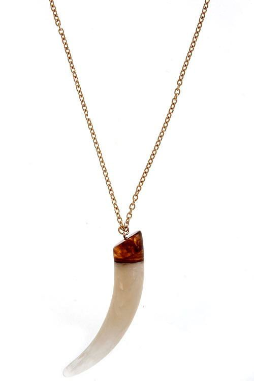 Tusk Pendant Necklace - I love this necklace!!! At PennyHills.com for $18