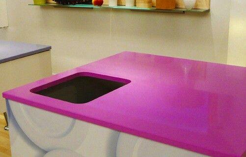 Pink worktop