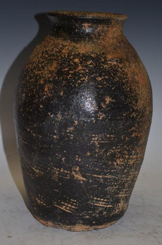 Antique Black Pottery Korean Vase On Ceramic 3 D Forms Pinterest