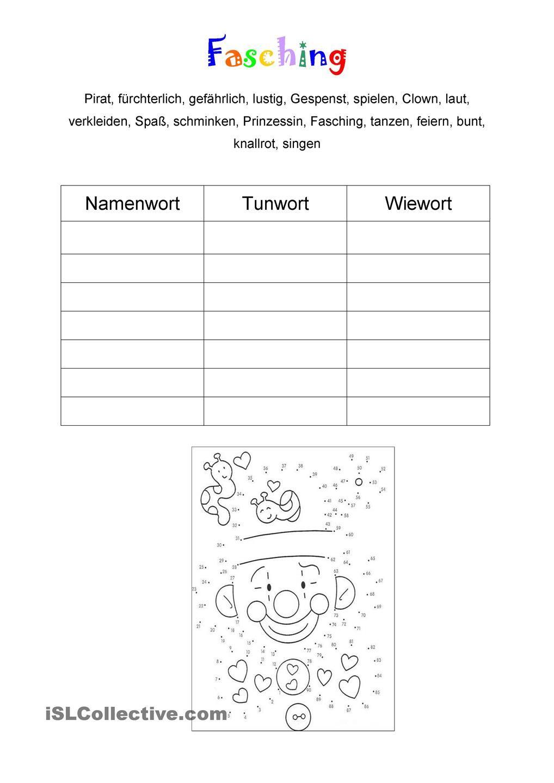 Fasching | school - German | Pinterest | Fasching, Schule und Deutsch