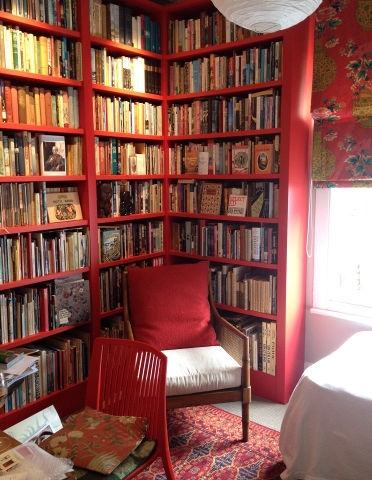 Red Library Nz Collection Mary Daysh Red Bookcase Home