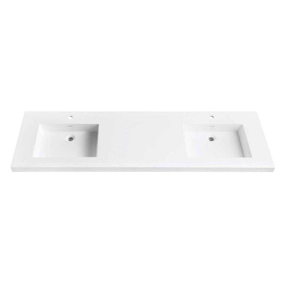 Avanity Versastone 73 In Solid Surface Vanity Top With Integrated