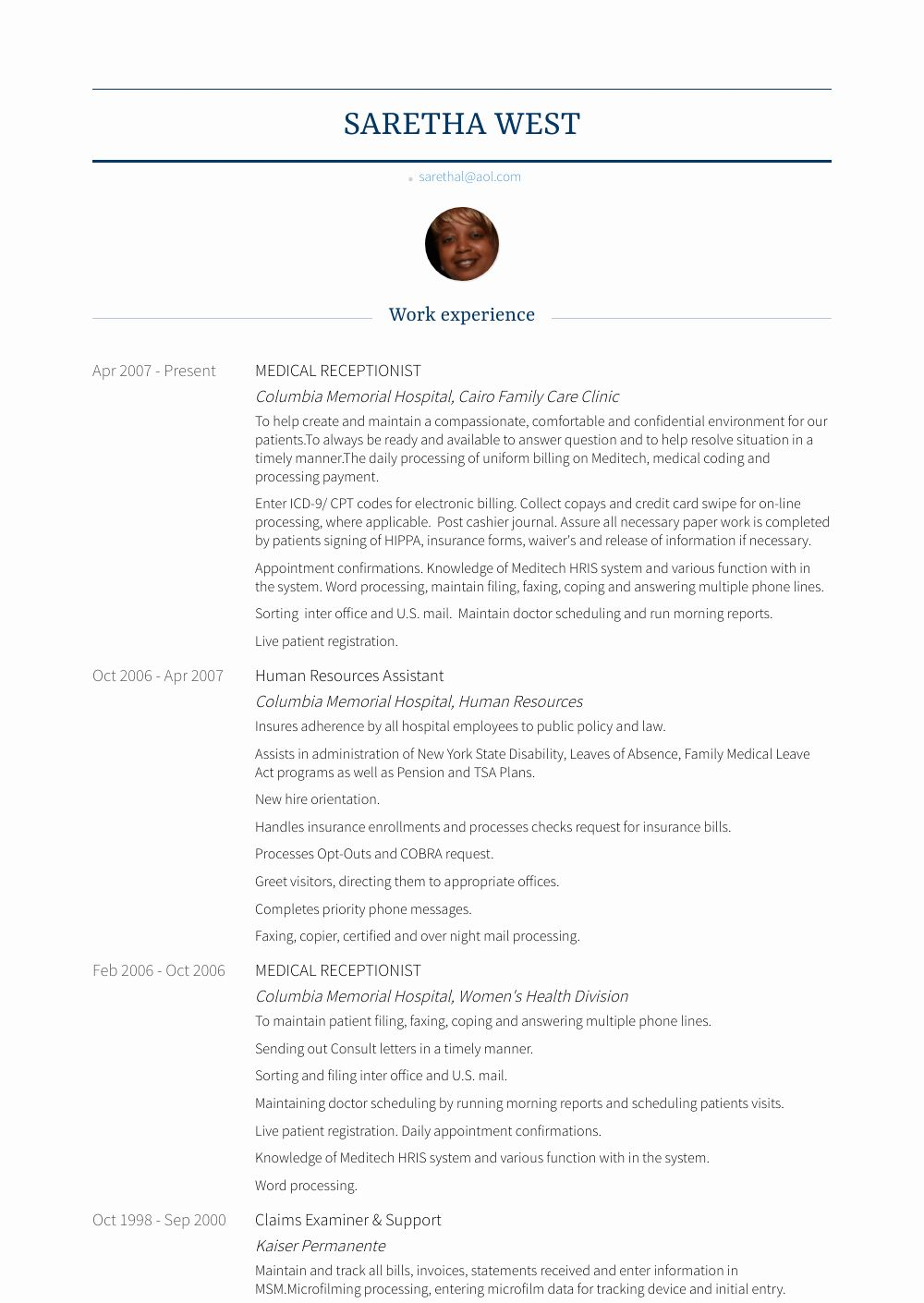 Medical Receptionist Resume Examples Awesome Medical