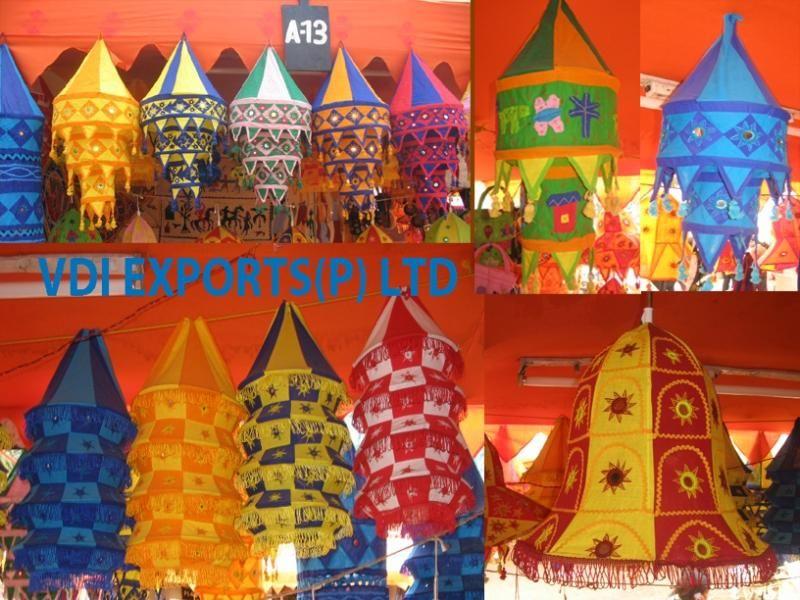 Mehndi Decoration Items : Rajastahni fabric decor hanging lalterns vdi exports mehndi