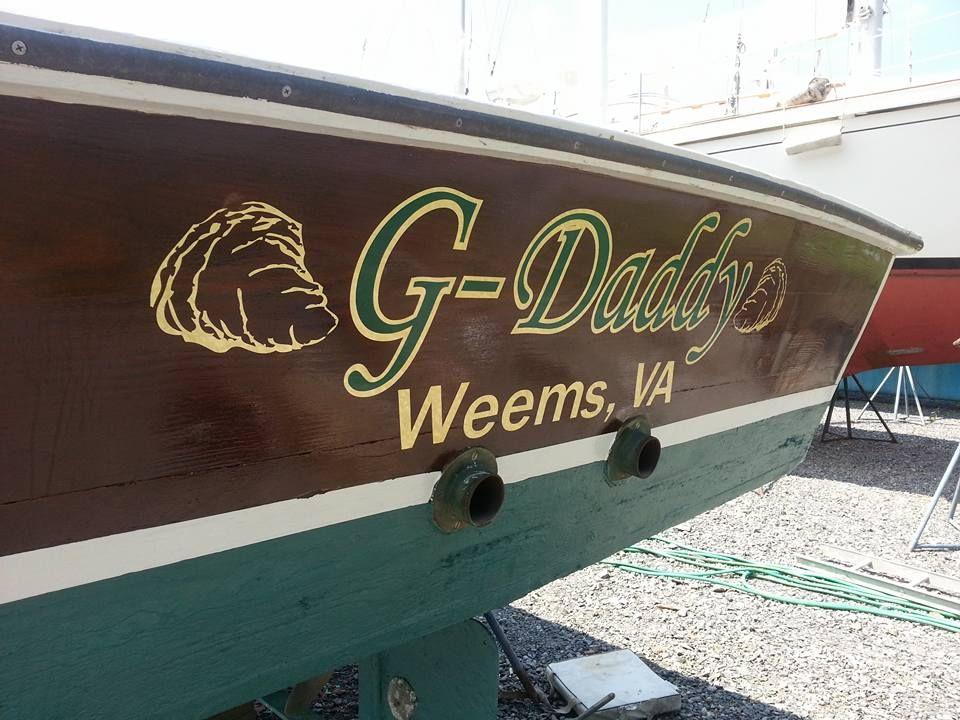 custom boat lettering golf leaf vinyl by east coast custom graphics llc