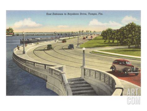 Bayshore Drive, Tampa, Florida Art Print at Art.com