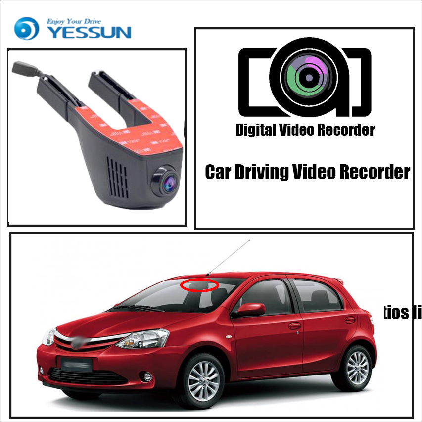 Toyota Etios Liva Dash Cam 1080p Wifi Dashcam Toyota Car