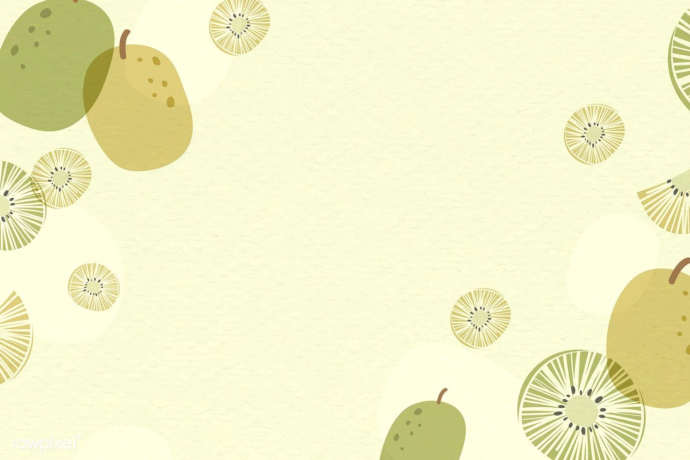Download Premium Vector Of Kiwi Patterned Background With Design Space Background Patterns Powerpoint Background Design Powerpoint Slide Designs