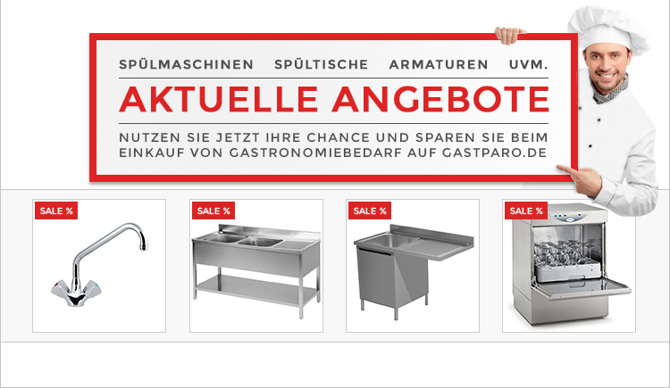 Entdecken Sie die aktuellen Angebote bei Gastparo und sparen Sie beim Einkauf von Gastronomiebedarf: http://www.gastparo.de/top-seller-gastronomie-bedarf-guenstig