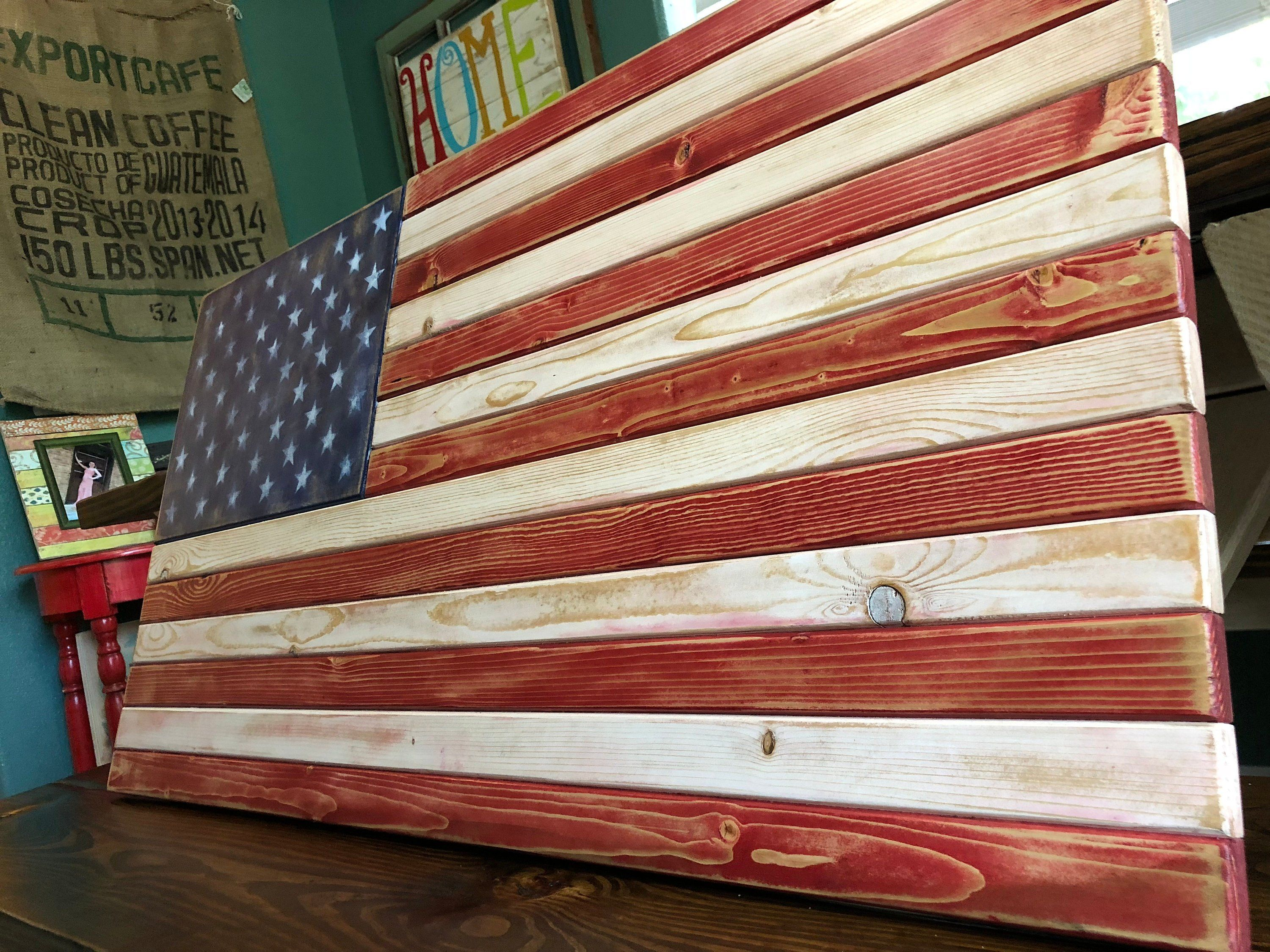 Distressed American Flag Decor Rustic Decor American Flag Office Decor American Flag Decor American Flag Decor Wooden American Flag American Flag Wall Art