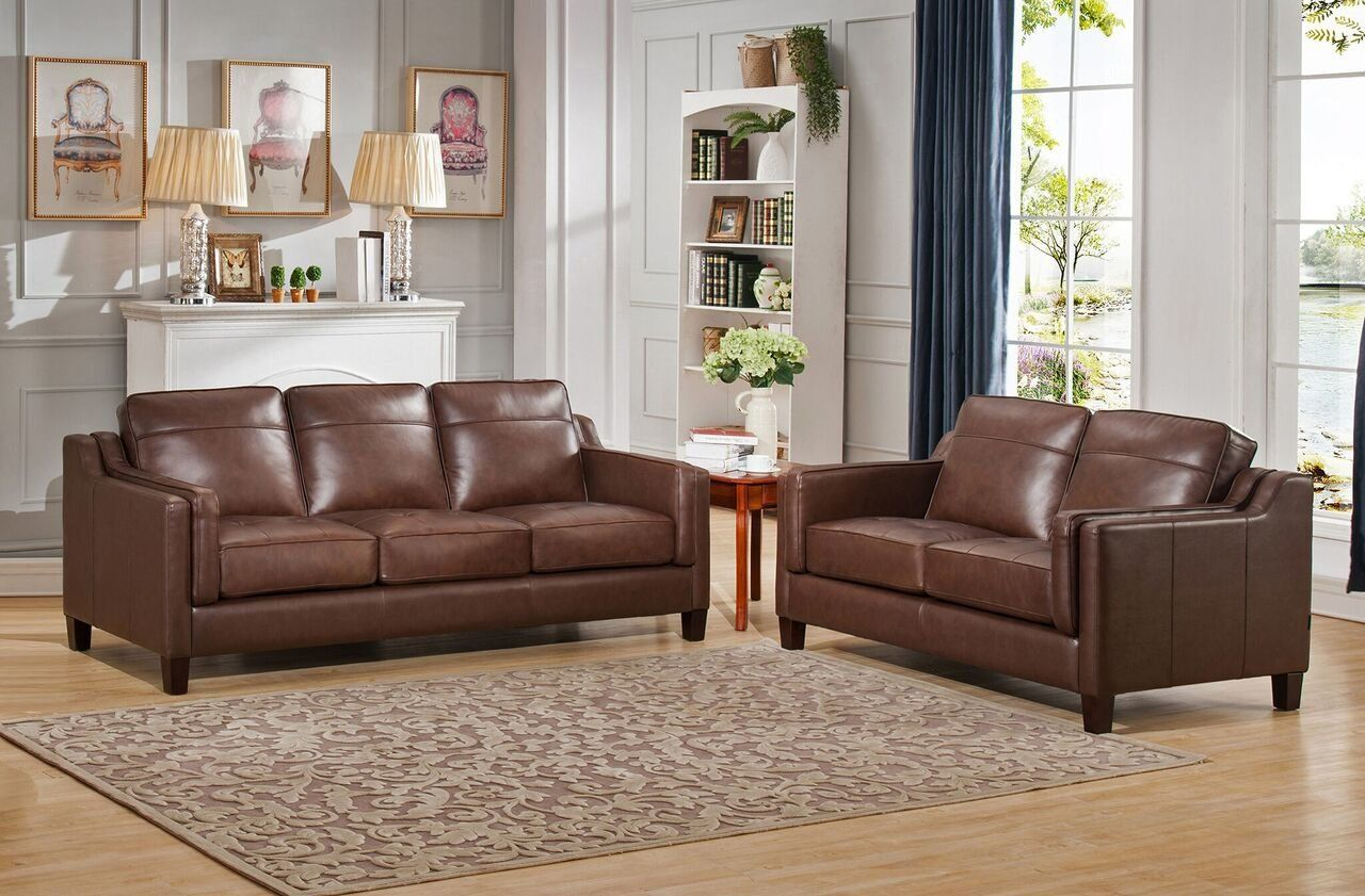 Brown Sofa And Loveseat Sets Katherine Leather 2 Piece Living Room Set In 2019 Products