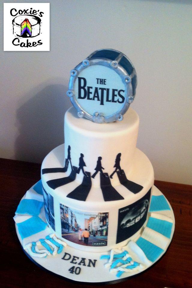 Pleasant Beatles Oasis Man City Birthday Cake Beatles Cake 70Th Funny Birthday Cards Online Alyptdamsfinfo