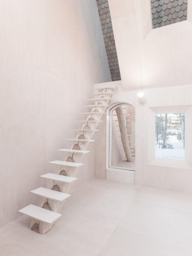 treppen design schmal gerade treppe weiss holz shabby ideas in 2019 pinterest. Black Bedroom Furniture Sets. Home Design Ideas