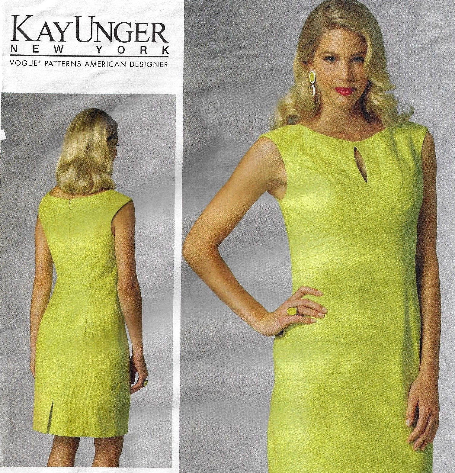Kay Unger Womens Seam Detail Dress Perfect For Spring Or Summer