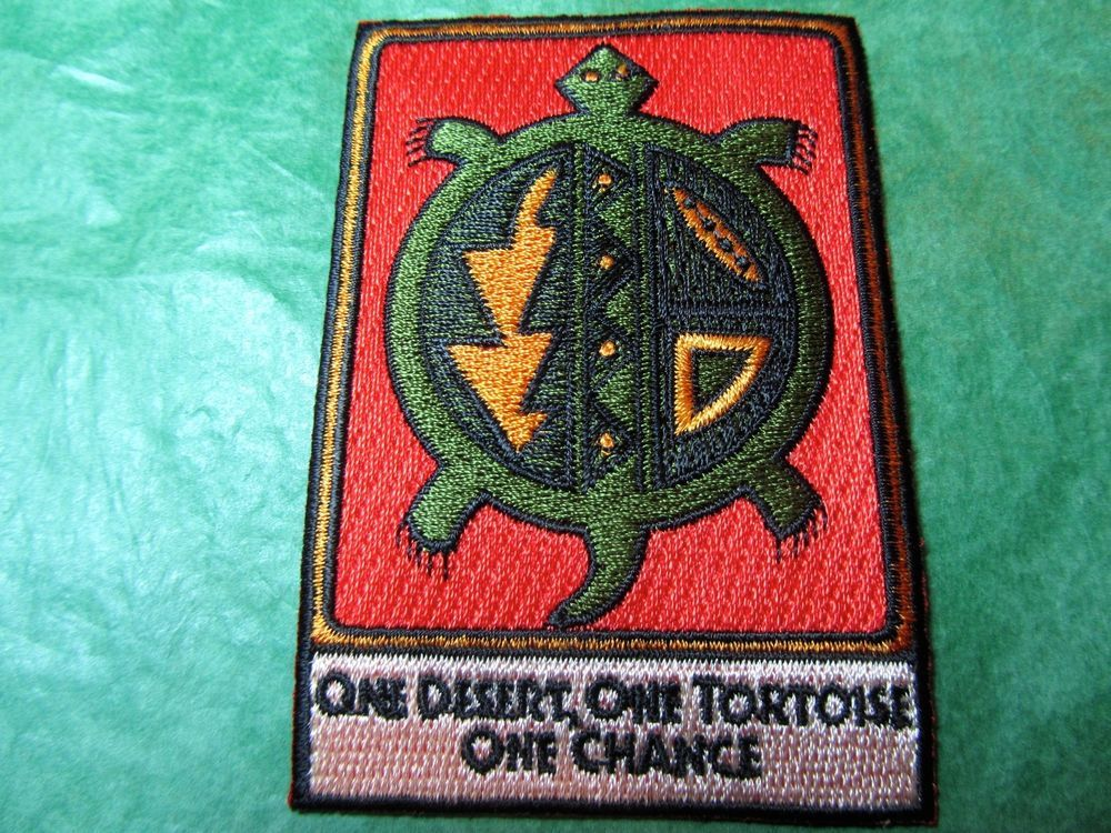 Joshua tree national park tortoise embroidered patch