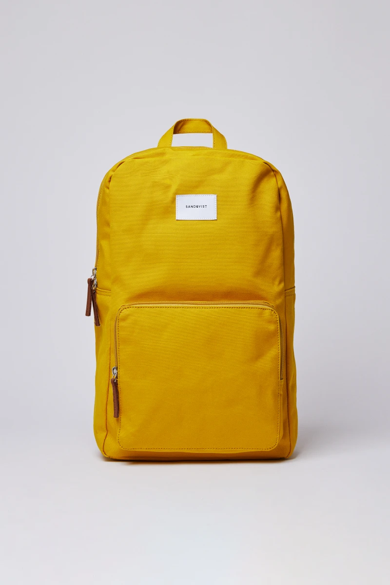 Kim Canvas Backpack Yellow In 2020 Backpacks Canvas Backpack Unique Bags