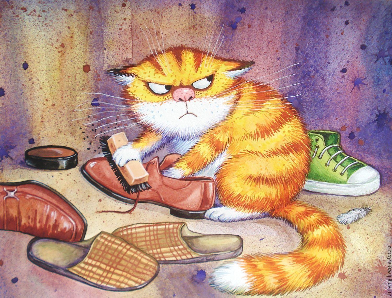 Рисунок смешных кошек откладываемые