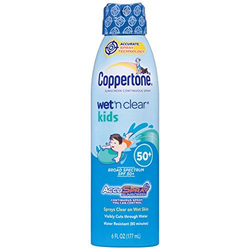 Coppertone Wet n Clear Kids SPF 50 Spray 6 Fluid Ounce * Read more reviews of the product by visiting the link on the image.(This is an Amazon affiliate link and I receive a commission for the sales)