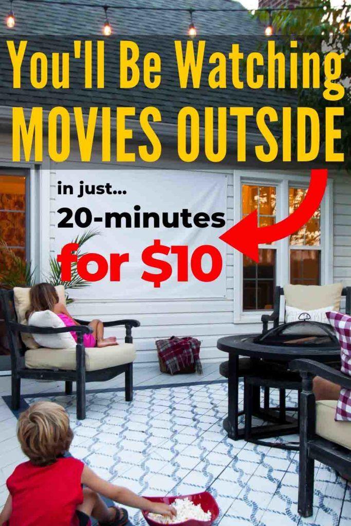 How To Make   Diy outdoor movie screen, Diy movie screen ...