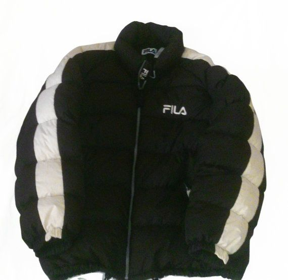Vintage 90s Fila Hip Hop Rap Style Goose Down Puffer jacket