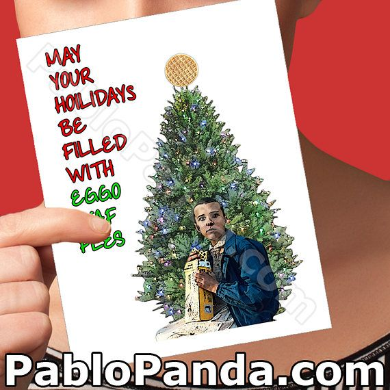 Holiday Cards Eleven Netflix Stranger Things Christmas Holiday
