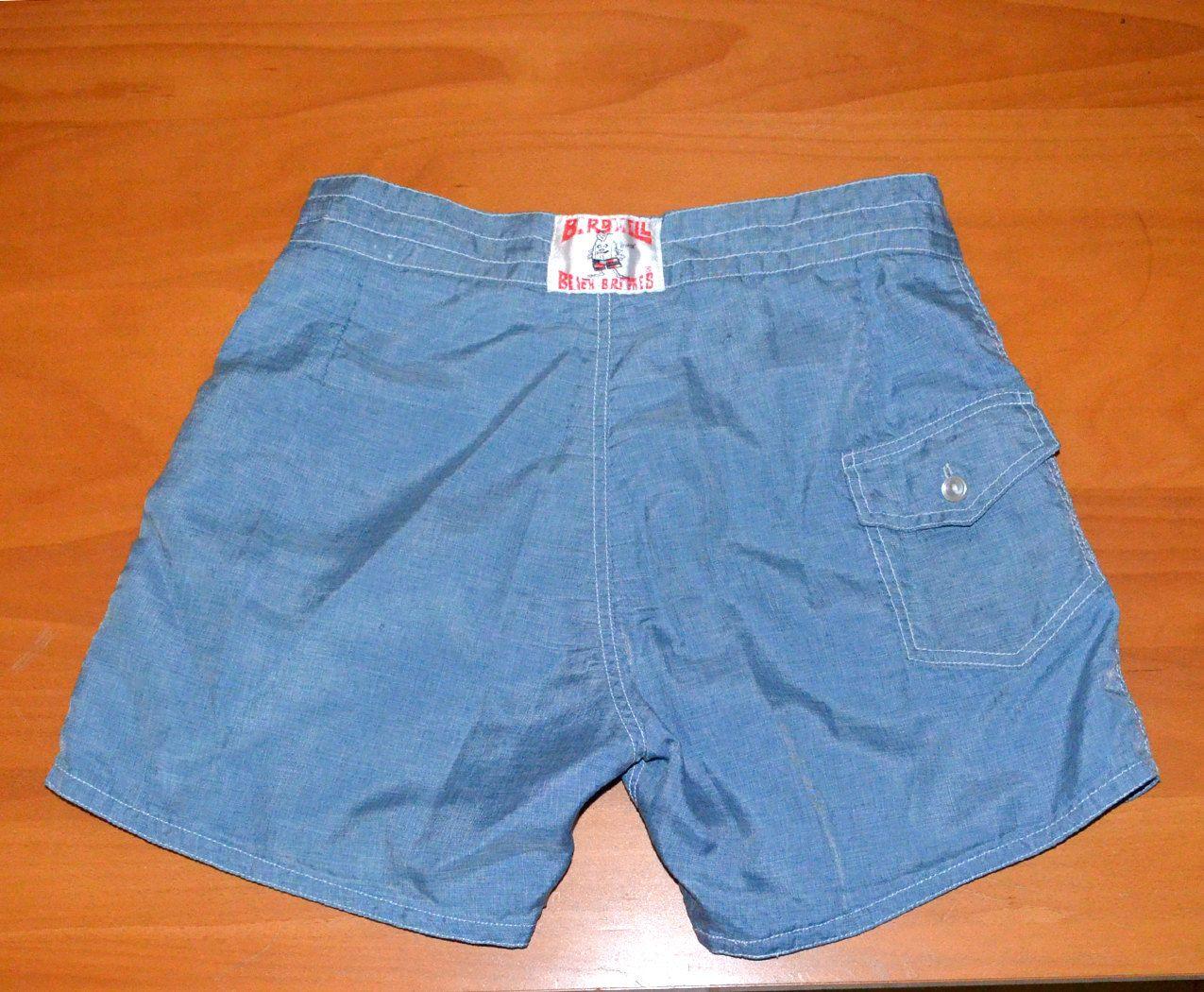 c8b7617604 vintage 70s board shorts BIRDWELL beach britches bathing suit swim trunks  surf Small Medium 31 waist 80s. $22.00, via Etsy.