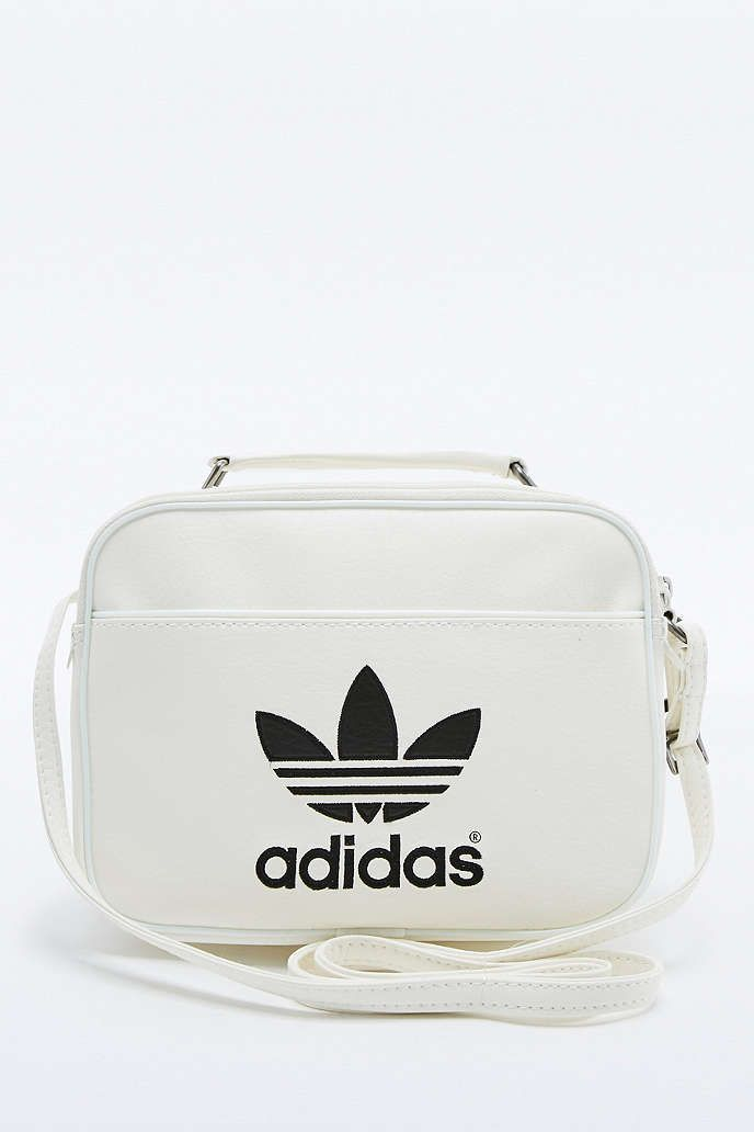 cee6606beaf7 adidas Originals Mini White Airliner Bag - Urban Outfitters