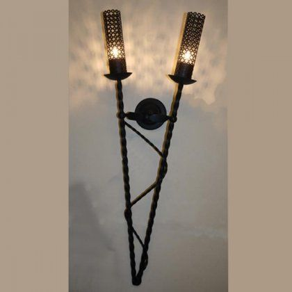 Fortress traditional wrought iron torch wall light 19522 fortress traditional wrought iron torch wall light 19522 audiocablefo