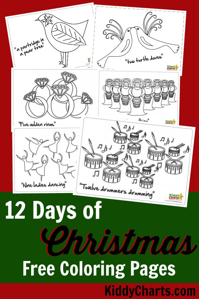 12 Days of Christmas .. complete colouring download | 12 days of ...